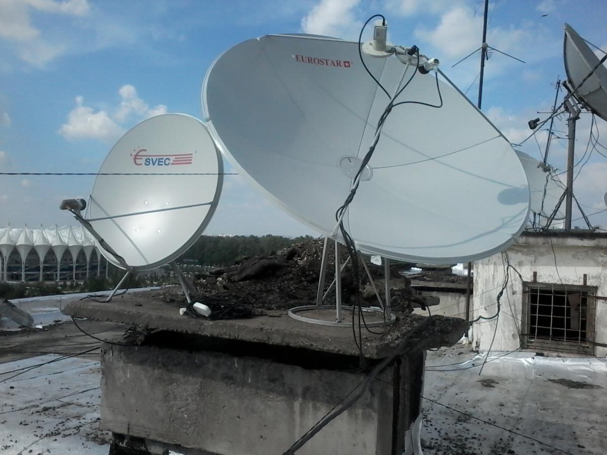 Настройка спутниковой антенны при помощи прибора Sat 32