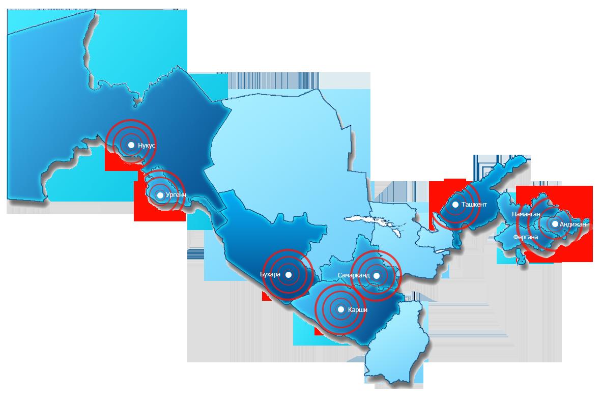 Спутник карта узбекистана