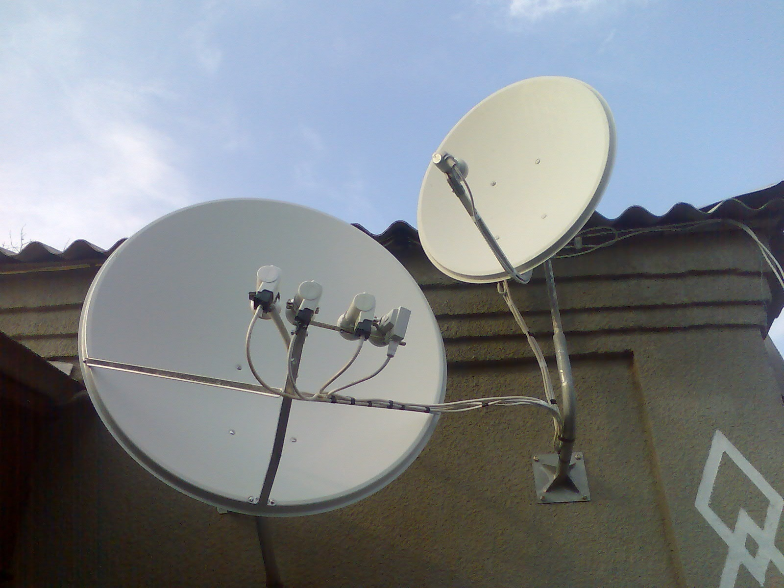 Установка спутникового телевидения своими руками 85
